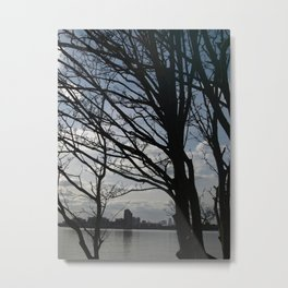 Trees along the River Thames, near Woolwich Metal Print