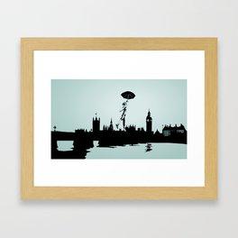 Crossing the Thames Framed Art Print