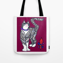 Helena Kitty with Fleur de Lis Tote Bag