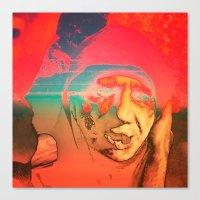 sci fi Canvas Prints featuring Lo-Fi Sci-Fi by potpourrri