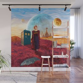 13th Doctor at Gallifrey Planet Wall Mural