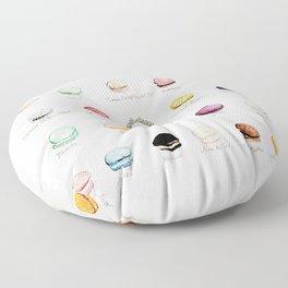 laduree macaron menu  Floor Pillow