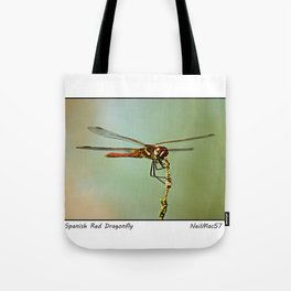 The Spanish Red Dragon Fly Tote Bag