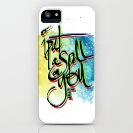 A spell iPhone Case