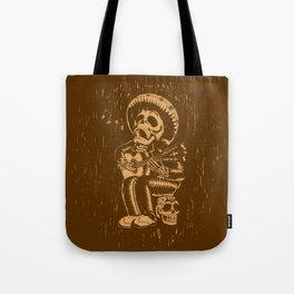 Dia De Los Muertos woodcut Tote Bag