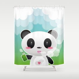 Vapers are Welcome (panda edition) Shower Curtain