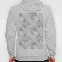 Modern abstract glacier gray white geometrical pattern Hoody