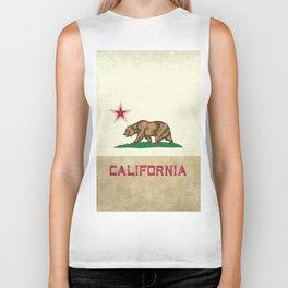 Vintage California Flag Biker Tank