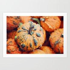 Gnarly Pumpkin Art Print