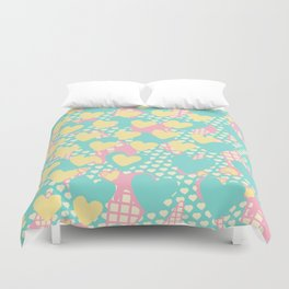 Smashed Pastel Icecreams Duvet Cover