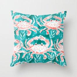 GONE CRABBIN' Throw Pillow
