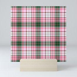 in pink plaid Mini Art Print