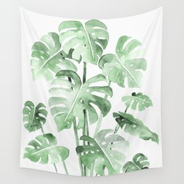 Delicate Monstera Green #society6 Wall Tapestry