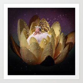 Waterlily Fairy Art Print