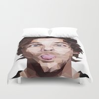 louis tomlinson Duvet Covers featuring Louis Tomlinson - One Direction by jrrrdan