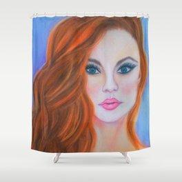 Glamorous Redhead Jessica Rabbit Shower Curtain