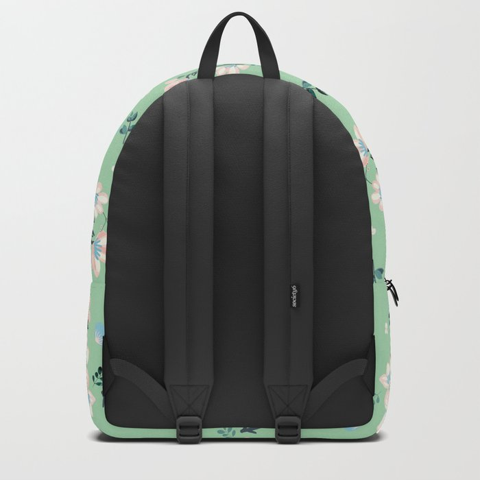 Be who you want to be - flowers and mint Backpack
