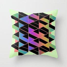 RAINBOW GEOMETRIC STRUCTURE Throw Pillow
