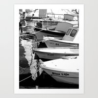 boats Art Prints featuring boats by habish