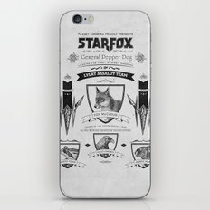 Star Fox Vintage Poster Geek Line Artly iPhone & iPod Skin