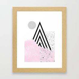 soft mountain Framed Art Print