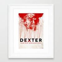 dexter Framed Art Prints featuring DEXTER by Michael Scott Murphy