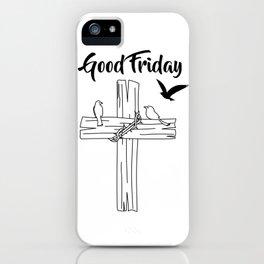 Cross With Bird iPhone Case