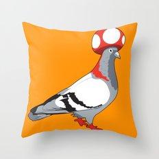 Pigeon Toad. Throw Pillow