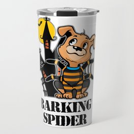 Barking Spider Halloween Design for Dog Lovers Light Travel Mug