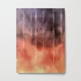 Fire Under the Mountain Metal Print