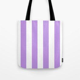 Vertical Stripes - White and Light Violet Tote Bag