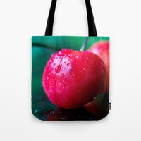 cherry Tote Bags featuring Cherry by Lindsay Faye