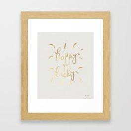 Happy Go Lucky - Natural Framed Art Print