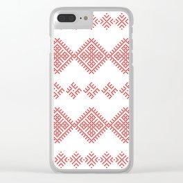 Pattern - Family Unit - Slavic symbol Clear iPhone Case