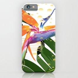 Tropical Bird of Paradise Flower iPhone Case