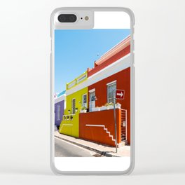 Colorful Bo-Kaap area of Cape Town Clear iPhone Case