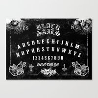 ouija Canvas Prints featuring ouija by Daneel Johnstone