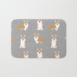 Corgis - Cute corgi, dog pet, corgi decor, corgi pillow, corgi bedding, corgi pattern, cute corgi Bath Mat