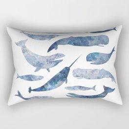 Whales, whale art, whale painting, whale wall art, watercolour whales, ocean Rectangular Pillow
