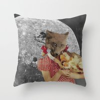 Counting chickens Throw Pillow
