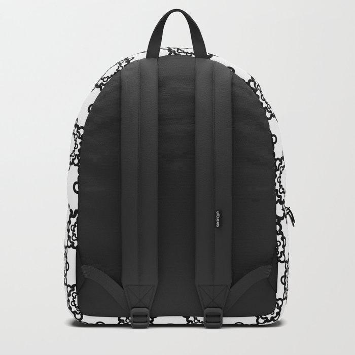 "Art Deco. ""Lola ""  white background . Backpack"
