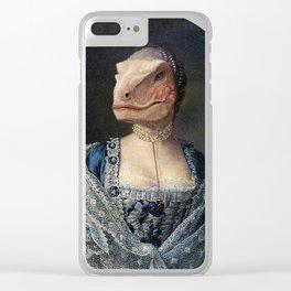 Dame Deinonychus Clear iPhone Case