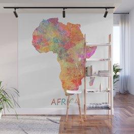 Africa map 2 Wall Mural