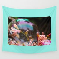 bubbles Wall Tapestries featuring Bubbles by Dora Birgis