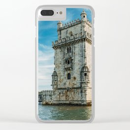 Belem Tower of Saint Vincent In Lisbon, Wall Art Print, Historic Architecture Art, Poster Decor Clear iPhone Case