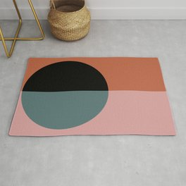 Color Block Abstract V Rug