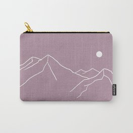 Mountains and Forest at Dusk Carry-All Pouch