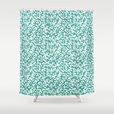 turquoise coral pattern Shower Curtain