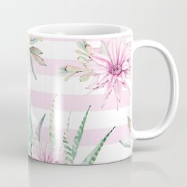 Simply Striped Cactus Desert Rose Pink Coffee Mug