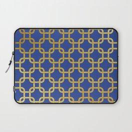 Gold interlinked squares Laptop Sleeve